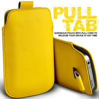 Wholesale 13Colors PU LEATHER PULL TAB POUCH SKIN CASE FOR Galaxy Note N7100 N7000