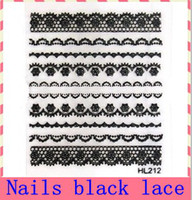 Wholesale D black lace nail foil sticker D nail decoration nail stamp mixed design