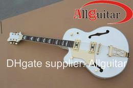Guitares main gauche corps creux en Ligne-Gauche 6120 JAZZ Hollow Body Guitare électrique blanc HOT SALE