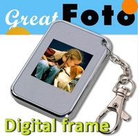 Wholesale Mini Keychain quot LCD Digital Photo Picture Frame Album USB Keychain Portable black amp white
