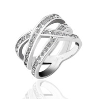 Wholesale Factory Price Xmas Gift Hot Sale Handmade Fashion Jewellery K White Gold Plated Austrian Crystal Rings JZ179