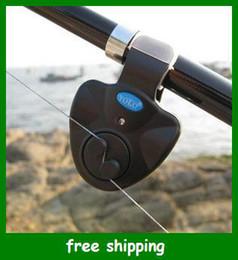 Clip de Rod sonido del zumbador de luz LED de alarma mordedura de la pesca envío libre