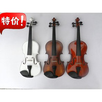 Wholesale High quality Adults and children available acoustic violin with bow rosin tuner and case mix color