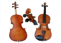 Wholesale High quality Adults available acoustic violin with bow rosin tuner and case in Antique matt