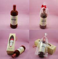 Wholesale Christmas gifts creative Single bottle Red wine towel pure cotton Festival gift coffee