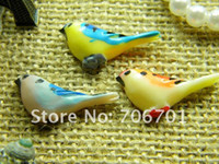 Wholesale 30 mm Colors Flat back Resin Bird Cabochons Decoration Accessories Resin Craft DIY Jewelry Flower