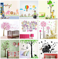 Wholesale Mix order x90cm Removable Wall Stickers Decals Kids Nursery Wall Decor Mural Art Home Decoration