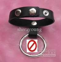 Wholesale Leather Belt Metal Cock Ring Penis Ring Adult Sex Toy For Male adult Sex Products XLY1060