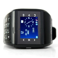 Unisex Digital Analog-Digital Xmas Gift! Unlocked Q8 Dual Sim Quadband watch phone Mobile Phone FM bluetooth Touch screen MP3 MP4