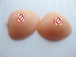Wholesale Realistic Cross dress CDTriangle Silicone Breast Form Boobs Pads Bra Inserts Enhancer For Mastectomy