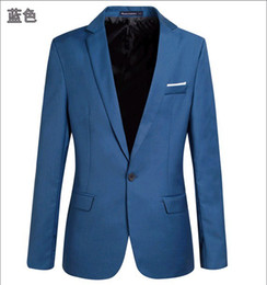 Wholesale Mens blazer Formal suit casual slim suit men fashion one button design blazer jacket