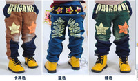 Wholesale kid s children jeans girl and boys thick fashion jeans