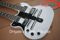 Solid Body 12 Strings Mahogany left handed Alpine White 1275 Double neck electric guitar China Guitar