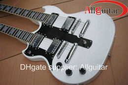 left handed Alpine White 1275 Double neck electric guitar China Guitar