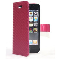 Wholesale Leather Case Purse Straw Mat Back Cover Murah Wallet Protector for iPhone iPhone5 G Apple DHL