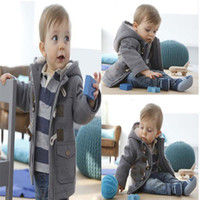 Wholesale Fashion Baby Boys Coat Kids Baby Clothes Kid Clothing Winter Coat Jacket Trench Coat Hoody Hoodie