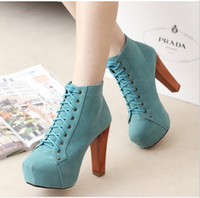 Wholesale Jeffrey Campbell New Ankle Boots Womens Chunky Heels With CM Waterproof Shoe US4 TS12919