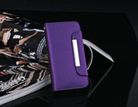 Plastic For Apple iPhone For Christmas Matte Genuine Wallet Leather Case Cover Pouch for Iphone 5 5G 5th Credit Card ID Holster 6 Colors
