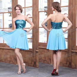 Wholesale Hot Sale Lovely Piping Beaded Homecoming Dress HD002
