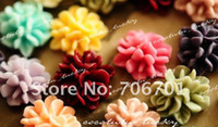 Wholesale 15mm Colors Resin Flower Cabochon For DIY Jewelry DIY Mobile iphone Decoration Resin Cameo