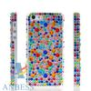 COLOUR BLING RHINESTONE CRYSTAL CASE COVER + SCREEN FOR APPLE IPHONE 5 5G
