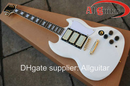 Wholesale Alpine white sg mahogany pickups electric guitar gold hardware