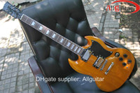 Solid Body 6 Strings Mahogany Original yellow guitar mahogany sg electric guitar