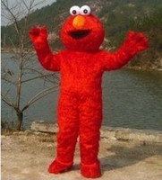 adult elmo costume - Best price Cute Popular Brand New Red monster Elmo Cartoon Mascot Costume Adult Size free ship