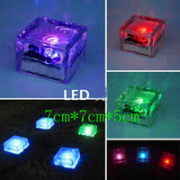 Wholesale 10pcs Solar floor light Square crystal lawn lamp Buried light Solar underground Garden Light