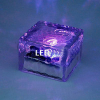 Wholesale brand new freeshipping Solar floor light Square crystal lawn lamp Buried light Solar underground Garden Light