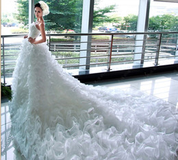 Wholesale 2014 prom dresses Wedding Dress beautiful Mermaid Princess Bride Fashion Big Fluffy TailL Long Tail Bridal Gown dress