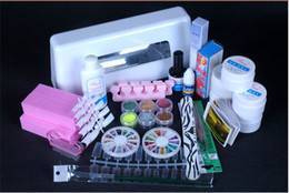 Wholesale TIPS9W V White UV Dryer Curing Lamp Acrylic Powder Nail Art Liquid Kit Set