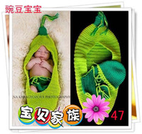 Wholesale Crochet Cocoon Sleepsack Newborn Sleeping Bags Hand Crocheted Baby Swaddle Cuddle Sack Photo Prop