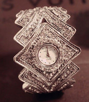 Wholesale womens bracelet watch big crown vintage jewelry new bangle Wristwatches shiny diamonds