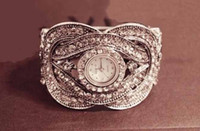Wholesale diamonds watch silver bracelets vintage pretty ladies