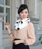 Wholesale In the winter of new rabbit hair braided collar rabbit fur scarf fur scarf collar double collar