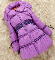 Wholesale baby and children s clothing in autumn and winter children down jacket girls long coat