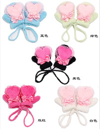 Wholesale Little Girl Baby Mitten Gloves Infant Mittens Golve hand Warmer Gloves warm gloves mittens yrs