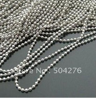 Wholesale Freeshipping MM Metal Silvery Tag Ball Chain For Split Ring Or Key Ring m