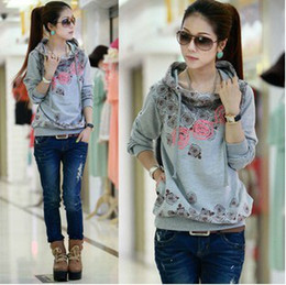 Wholesale new Spring amp Autumn women s Hoodie Casual Thicker fleece Hedging Sweatshirt