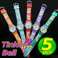 Fashion bell jelly - Tinkerbell Tinker bell Children Candy Kids D Cartoon Silicone Jelly Unisex Sport Cheap watches