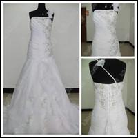 wedding dresses 2011 - 2011 New A Line Wedding Dress Sleeveless One Shoulder Chapel train Scoop neckline Organza