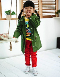Wholesale Baby Boys Girls Trench Coat Green Outwear Tops Children s Coat Outfits