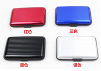 Wholesale 1000pcs Aluminium Credit card wallet cases Colors For Options card holder bank card case alum
