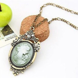 Wholesale Cameo Necklace Women s Chains retro chain necklace Popular Jewelry
