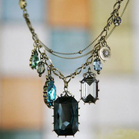 Bohemian baroque gemstone necklace - Baroque style necklace chain necklace Gemstone Jewelry factory price