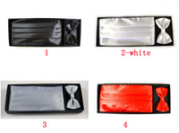 Wholesale Men Hanky Cummerbund Bowtie Neck Tie Set Ceremonial Belt Tie Knots Girdle Pocket Towel Corset Tower