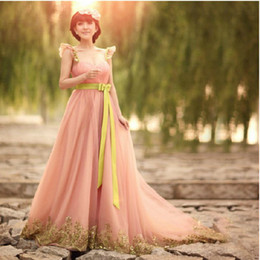 Wholesale Party dresses sexy Embroidery evening dress beautiful wedding dress Bridesmaid Dresses Bride dress
