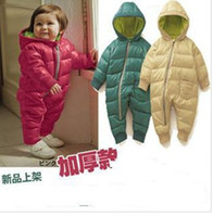 Wholesale children winter baby siamese cotton padded clothes cotton padded jacket romper dandys