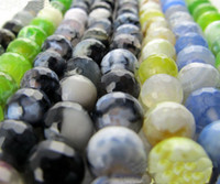 Wholesale 8mm Natural facets agate beads loose bead string jewelry accessories coloful bead